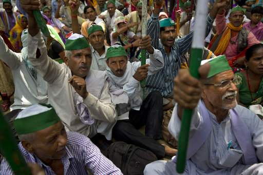 Farmers protest for their fare share