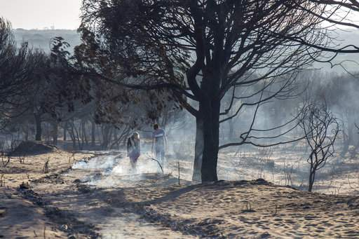 Damage to property has so far been limited given the location of the fire away from residential properties although people were evacuated from several farms in the region and one road remains closed.