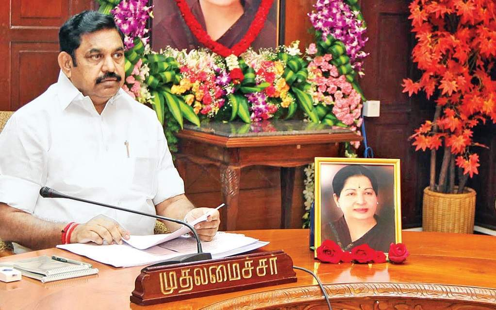 Tamil Nadu Chief Minister 'Edappadi' K Palaniswami during the Cabinet meeting at the Secretariat in Chennai.