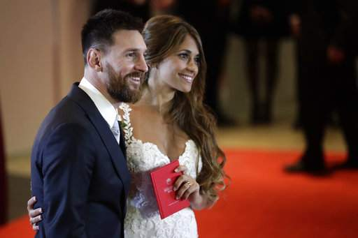 Messi tied the knot with long-time partner Antonella Roccuzzo|AP