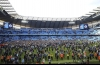 Manchester City fans invade the pitch after winning the English Premier League soccer match between Manchester City and Swansea City 5-0 at Etihad stadium in Manchester, England, Sunday, April 22, 2018. | AP