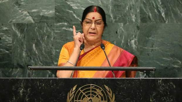 Sushma Swaraj, Minister of External Affairs for India (AP)