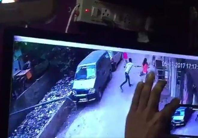 CCTV footage where the accused following Riya prior her murder.
